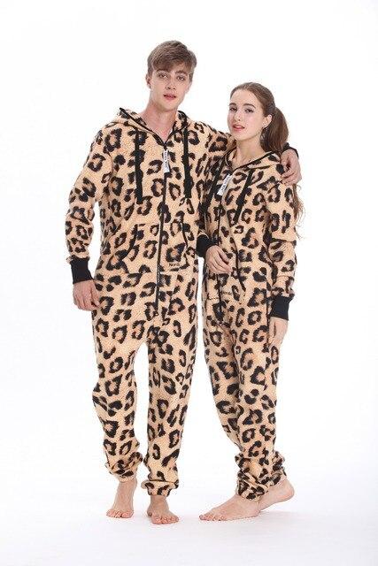 Nordic Way Leopard Print Onesie All In One Hoodies Fleece Romper Unisex  Adult Playsuit 309b7dcd8