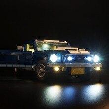 مصباح ليد (الإصدار الكلاسيكي) لعام 10265 فورد موستانج سباق السيارات ألعاب مكعبات البناء الهدايا