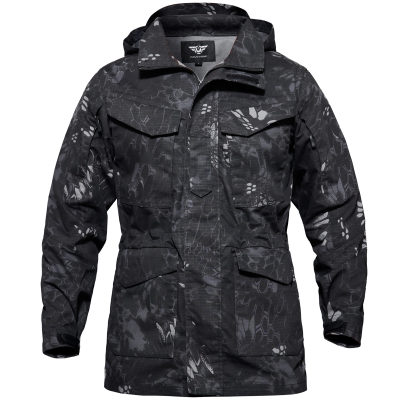 M65 Army Military Tactical Jacket Impermeabil Windproof Hiking Jacket bărbați Windbreaker Sport în aer liber de vânătoare de pescuit Rain Coat