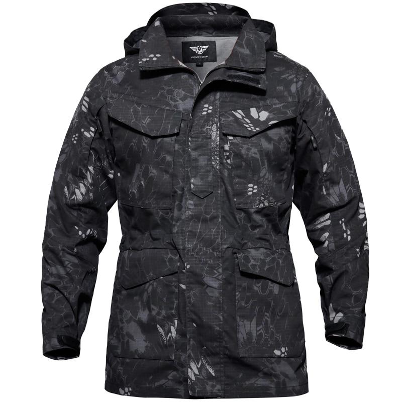 M65 armée militaire tactique veste imperméable coupe-vent randonnée veste hommes coupe-vent Sports de plein air chasse pêche manteau de pluie