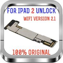 100% Original A1395 Motherboard Für iPad 2 WIFI Version Entsperrt Mainboard Kostenloser iCloud 2,1 Modell Logic Board Ersetzen