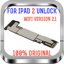 100% Original A1395 เมนบอร์ดสำหรับ iPad 2 รุ่น WIFI ปลดล็อกเมนบอร์ดฟรี iCloud 2.1 รุ่น Logic BOARD เปลี่ยน