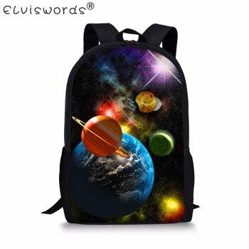 Школьные сумки ELVISWORDS для мальчиков и девочек, объемные школьные сумки для детей, детские книжные сумки, школьные сумки