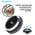 Nueva Negro Universal Clip Desmontable de Ojo de Pez Lente de 235 Grados súper lentes de ojo de pez lente de la cámara para iphone 5 6 samsung teléfono