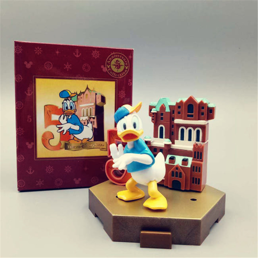 1pcs Original Donald duck Action Figure Collectible Toy donald duck home decaration toys best gift for kids image