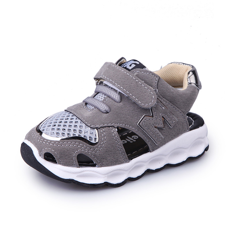 2018 Hook&Loop fashion baby casual shoes summer rubber baby half sandals cool classic high quality breathable boys girls shoes