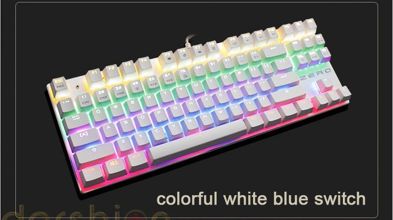 Keyboards Blue/Black/Red Keys Last 19