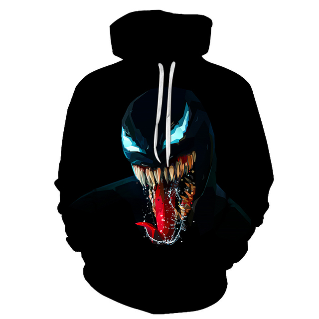Black Monster 3D Printed Hoodie
