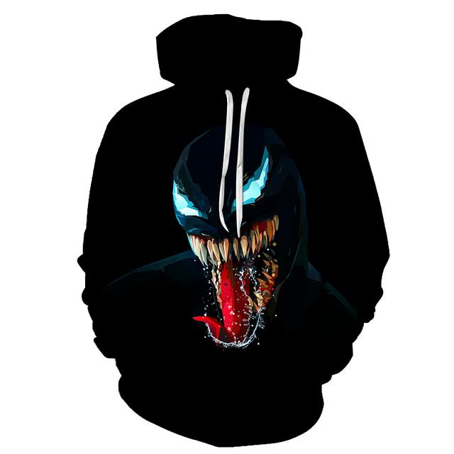 3D Printed Black Monster Venom Hoodie