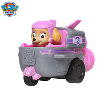 Paw Patrol Dog Toys skye Russian Anime Doll Action Figures Car Puppy Toy Patrulla Canina Juguetes kids Gift Genuine
