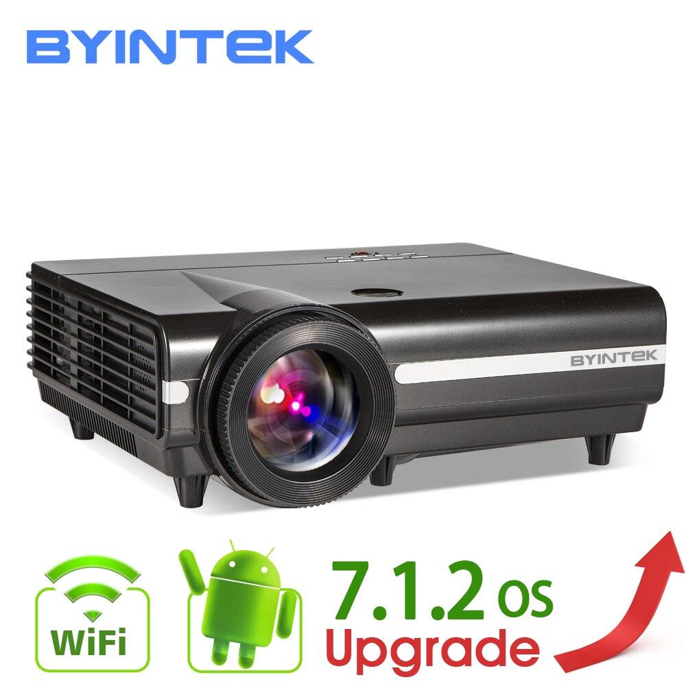 BYINTEK MOON BT96Plus голограмма 200 дюймов светодиодный видео HD проектор для домашнего кинотеатра Full HD 1080 P (опционально Android 6,0 Поддержка 4 к)