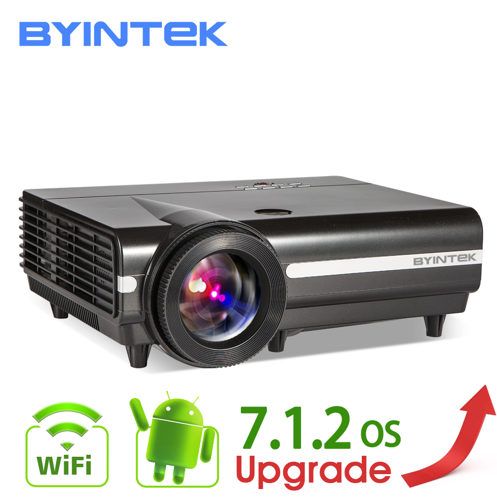 BYINTEK MOON BT96Plus голограмма 200 светодио дный LED видео HD проектор для дома ТЕАТР Full HD 1080p (дополнительно Android 6,0 Поддержка 4 К к)