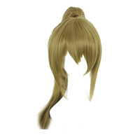 Your Style Long Blonde Fake Hair Claw Clip Ponytails Cosplay Wigs Women For Party Costume Synthetic