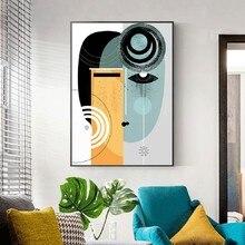 Cuadro sobre lienzo para pared con figuras Vintage abstractas, pósteres geométricos e impresiones para la decoración Interior de la Casa de la sala de estar
