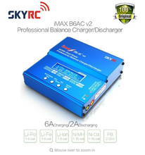 Free shipping SKYRC iMAX B6AC V2 (6A, 50W)Balance Charger/Discharger for Lipo Battery + EU/US/UK/AU plug power supply wire