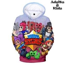 BRAWL STARS 3D Print Hoodies Sweatshirt Fashion comfortable Parent child Hoodies Pullovers Casual Hipster Autumn/Winter kids
