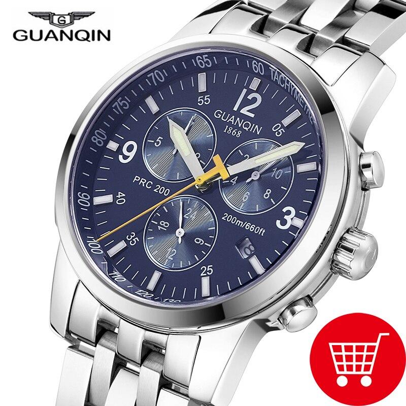 GUANQIN Relogio Masculino gq50009 мужские часы лучший бренд класса люкс автоматические механические часы мужские спортивные м 200 м непромокаемые наручные ...