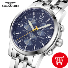 2017 Relogio Masculino GUANQIN Mens Watches Top Brand Luxury Automatic Clock men Sport Full Steel 200M waterproof A