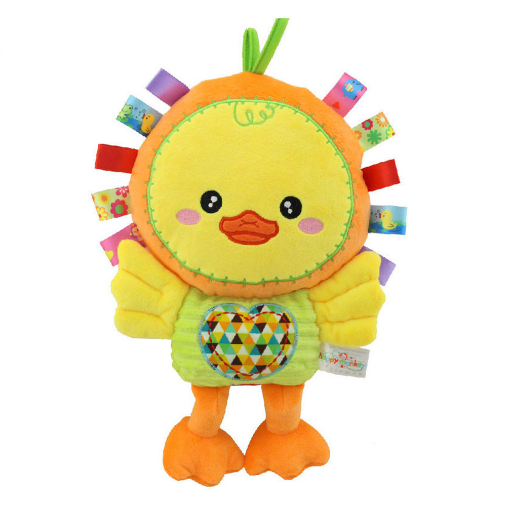 Baby Newborn Appease Doll Stuffed Cartoon Animal Dog/duck Plush Toy Infant Bb Rattle Kids Toys Gift Bm88