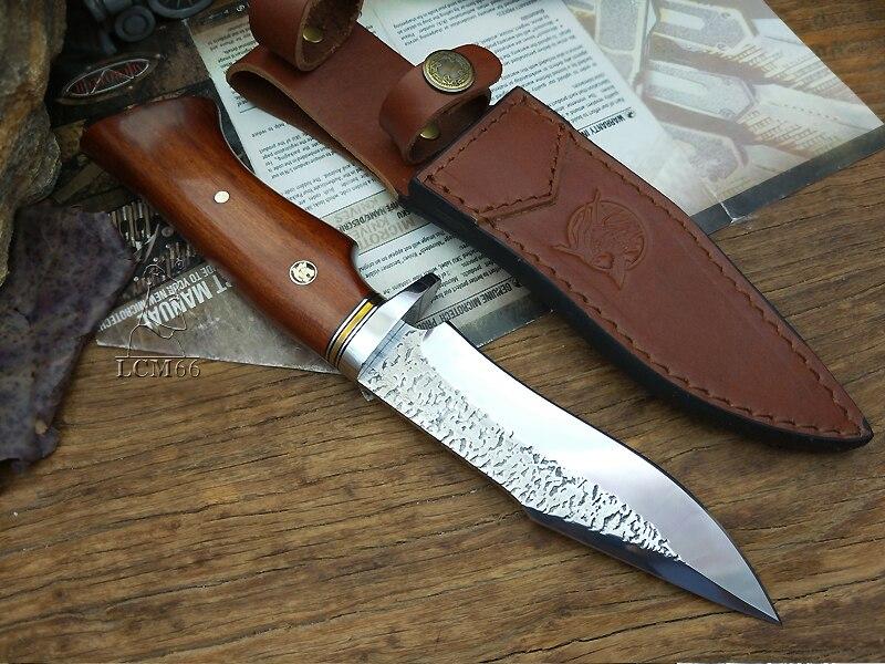 Sharp Made Gereedschap Mes Mes Rescue Knives LCM66 MessenPrecious Tactische Rechte Forge Hand KnifeFixed HandleCamping Jacht