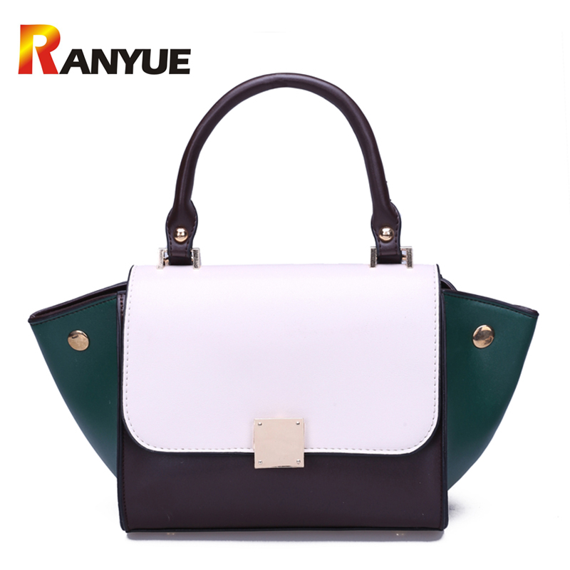 Autumn Trapeze Smiley Tote Bag Women Lock Fashion Designer Handbags PU Leather Shoulder Crossbody Bag For Women Bolsos Mujer Sac
