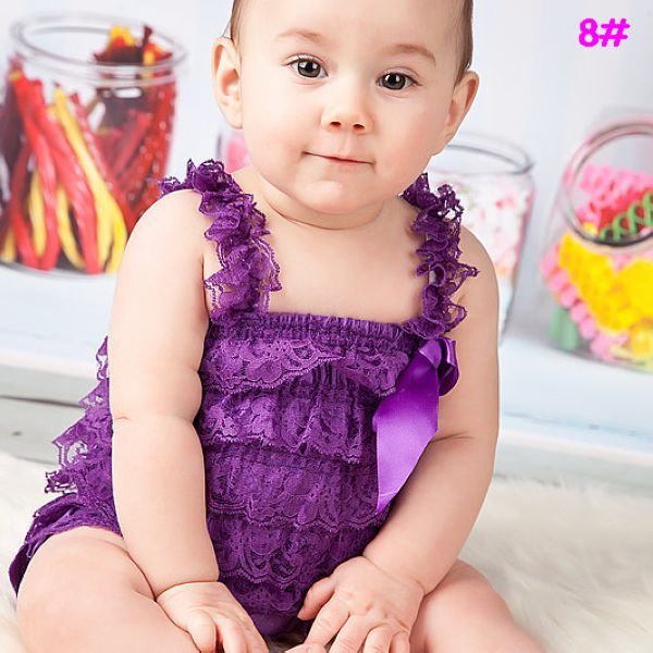 94fad9f29e1b Purple romper Baby girl 1st birthday outfit