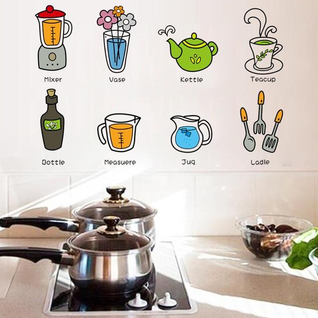 Utensili da cucina Con Il Nome Inglese Cucina Sticker FAI DA TE ...