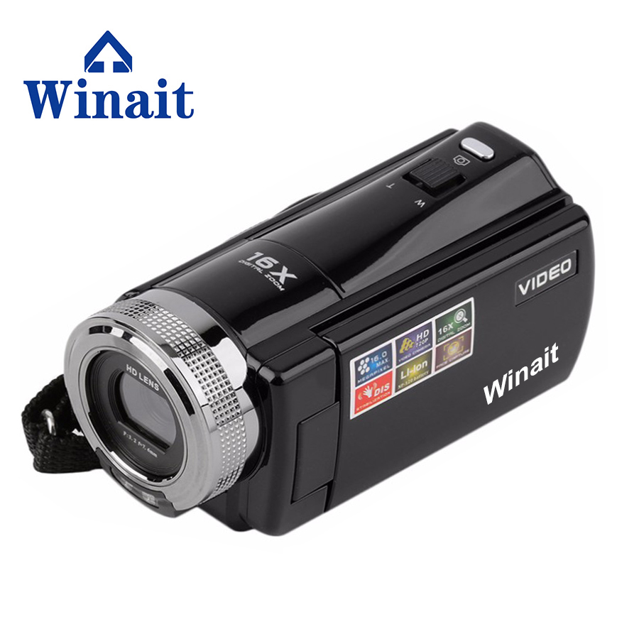 Winait 2017 cheap DV-C8 digital video camera with max 16mp rechargeable lithium battery light LED