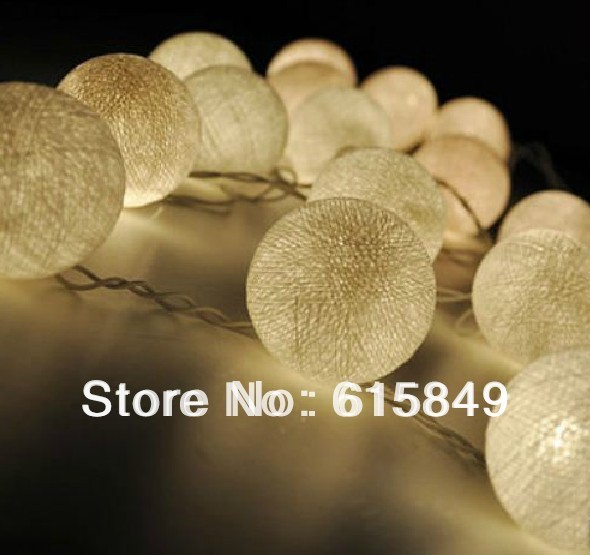 20pcs white color cotton ball  decoration holiday light wedding party decoration