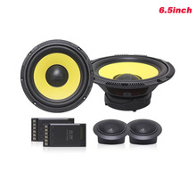 High-end Quality 6.5inch Car Audio Woofer Speaker Sets Hifi Loudspeakers With Dome Tweeter Speakers And Crossover Divider 2pcs kasun us 385c 3way high quality speaker audio crossover intersect frequency 600hz and 4650hz