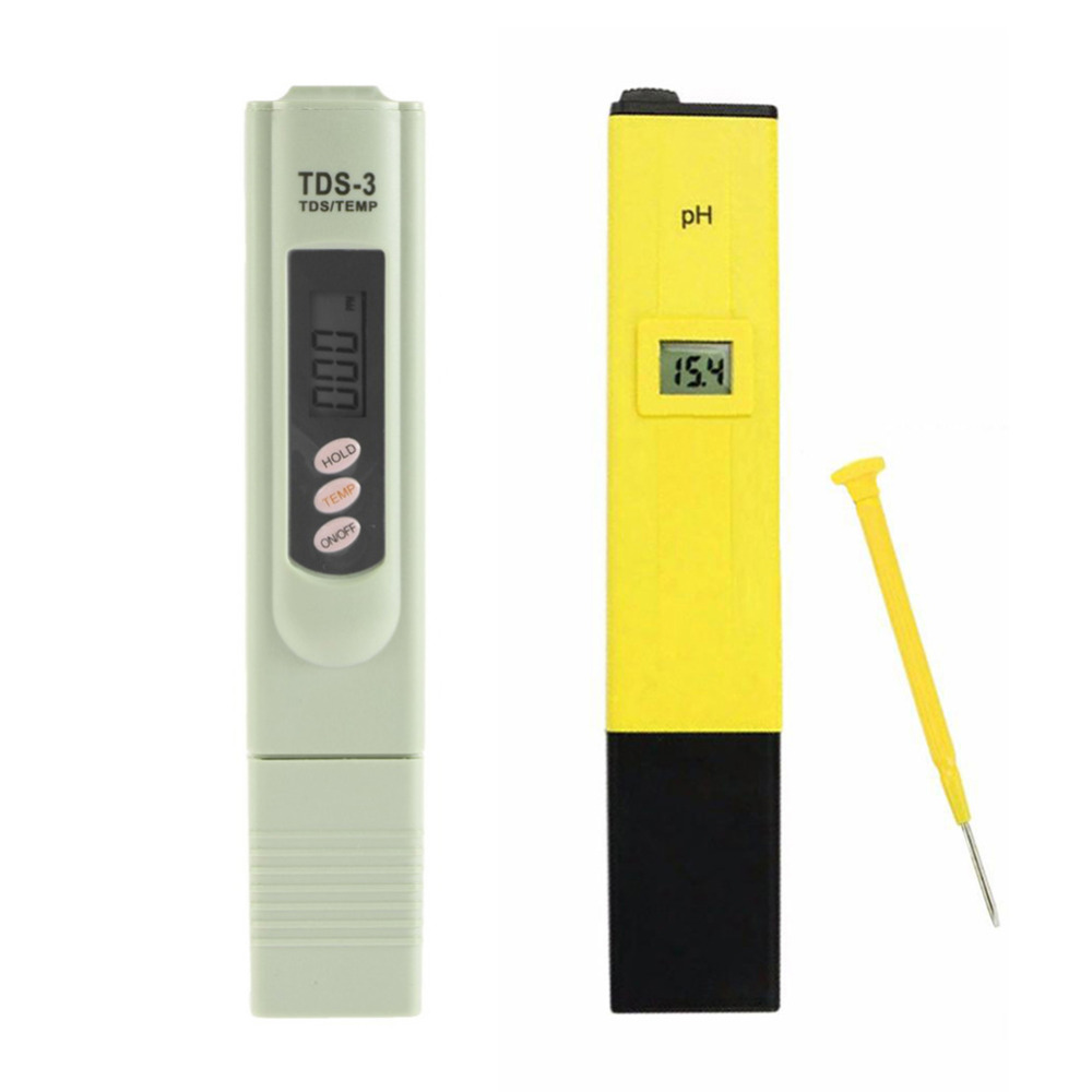 Digital Pocket PH Meter Pen Water Digital Tester + TDSTester Water Analysis Monitor for Aquarium Pool Water Laboratory цена