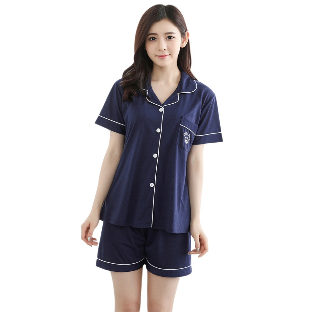 Women's Sleepwear Set Cardigan shirt + Shorts Fashion Solid Silk Comfortable Daily Home Tracksuit Nightwear Suit Pajamas Women