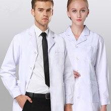 Новое поступление, высококачественное лабораторное пальто, медицинская одежда, униформа доктора для женщин/мужчин, медицинская одежда, специальная медицинская ткань