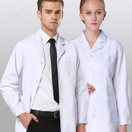 Ny Ankomst Högkvalitativ Lab Coat Medicinsk Kläder Läkare Uniformer Kvinnor / Män Medicinsk Kläder Special Medical Textil