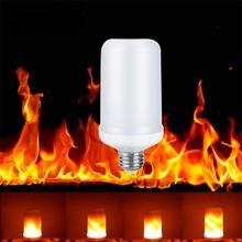 LED lamp Flame Effect Fire Light Bulbs E27 E26 2835SMD Burning Flicker Lamp Bulb 1300K AC100-265V