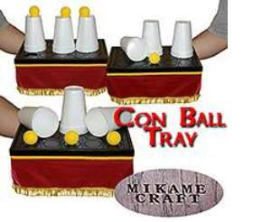 Con Ball Tray(size:14 x 9x 6) Magic Tricks Comedy Stage Magic Appearing/Vanising Ball Magie Illusion Magic Props Magician