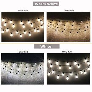 Image 4 - 10 M 38 LED Dize Işıkları Açık Çelenk Noel Dekorasyon Küre feston lamba Ampuller Zincir LED Dekoratif 220 110 V Düğün