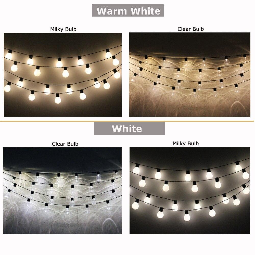 Image 4 - 10M 38 LED String Lights Outdoor Garlands Christmas Decoration Globe Festoon Light Bulbs Chain LED Decorative 220 110V Wedding-in LED String from Lights & Lighting
