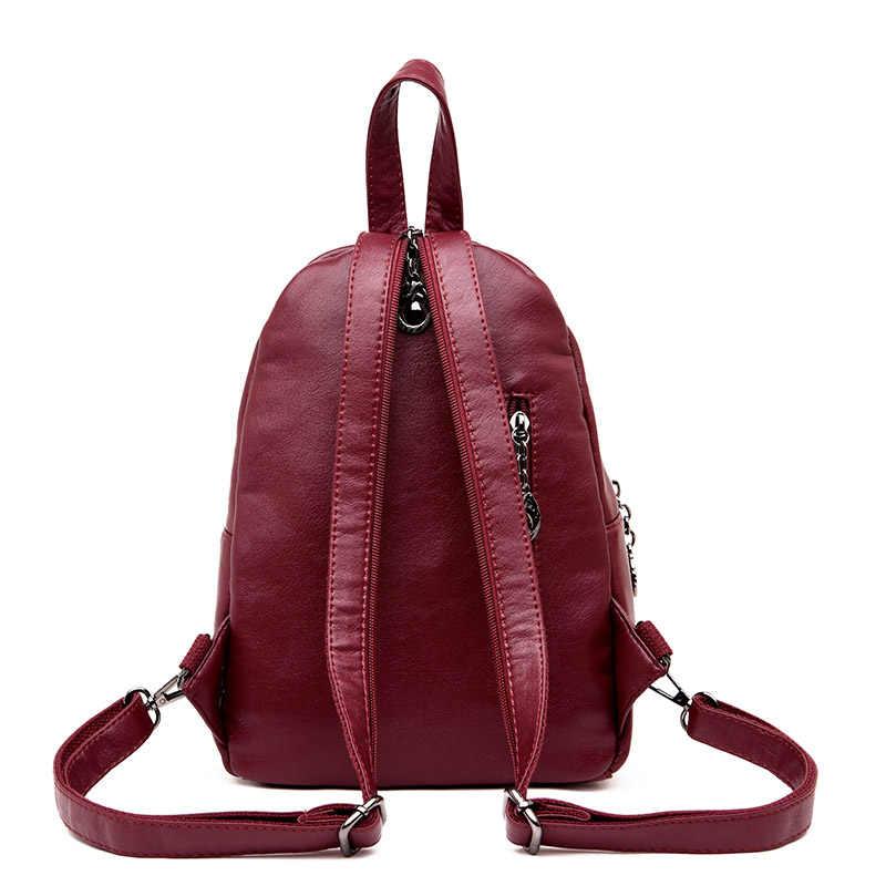 Женские маленькие кожаные рюкзаки для девочек-подростков 2019, элегантный дизайн, рюкзак, винтажный рюкзак с кисточками, женский рюкзак для девочек