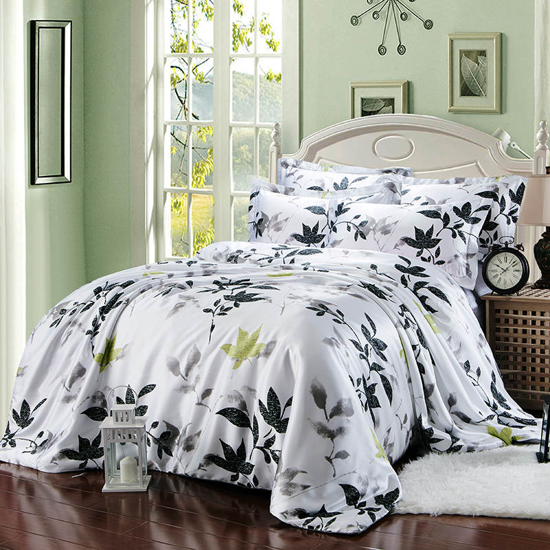 Satin Silk Bedding Set Bed Linens Coverlets Duvet Covers