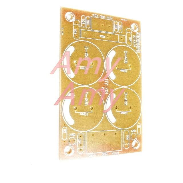 10 pz/lotto [PCB scheda vuota] tensione positiva e negativa, doppia alimentazione, amplificatore di potenza, audio raddrizzatore, filtro, scheda di potenza