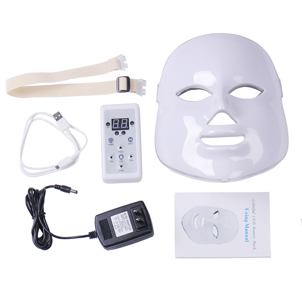 New 7Colors PDT Photon Therapy LED Face Mask Skin Rejuvenation Wrinkle Acne Removal Anti-Aging SPA Facial Beauty Machine