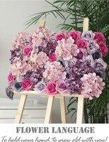 4pcs Lot 60x40cm High Quality Hydrangea Rose Flower Wall Wedding Backdrop Fantastic Floral Backdrop Arrangements Free