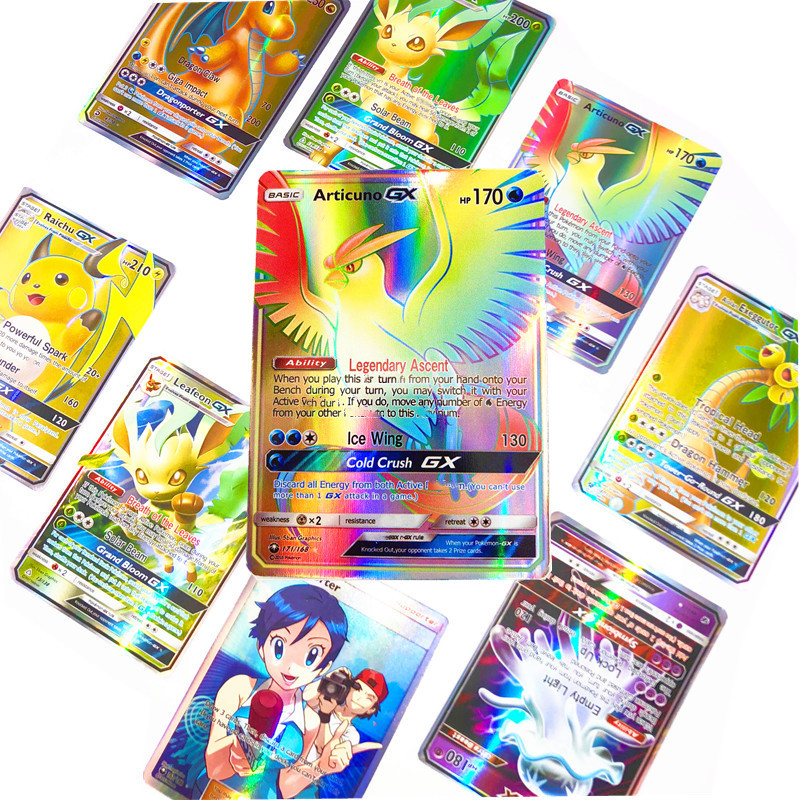 70Pcs GX EX MEGA Cards Poke Flash Mon Cards Trainer Mew Charizard  For Children Toy