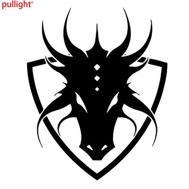 Anime manga shield logo emblem sign dragon car styling decals car stickers