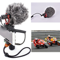 for iPhone X 8 7 Huawei Nikon Canon Video Record Microphone Compact VS Rode VideoMicro On Camera Recording Mic