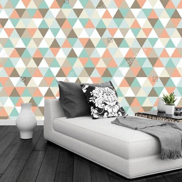 Papier peint personnalisé DE parede infantil, motif triangulaire ...