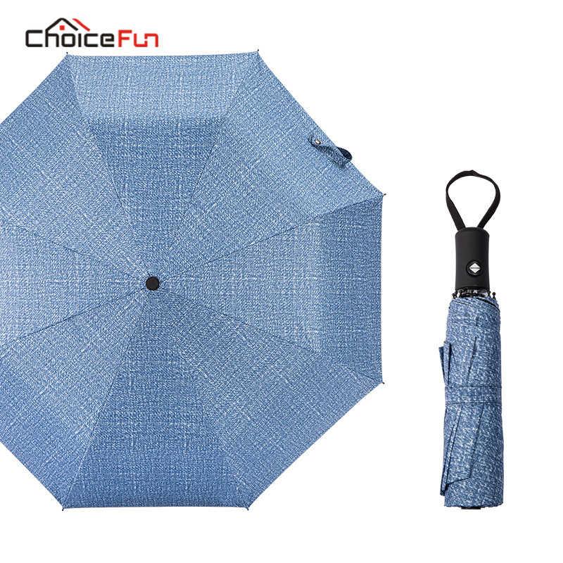 Wybór zabawy prosty biznes parasol automatyczny deszcz na zewnątrz kobiety mężczyźni rama wiatroszczelna anty-uv przenośny parasol podróżny