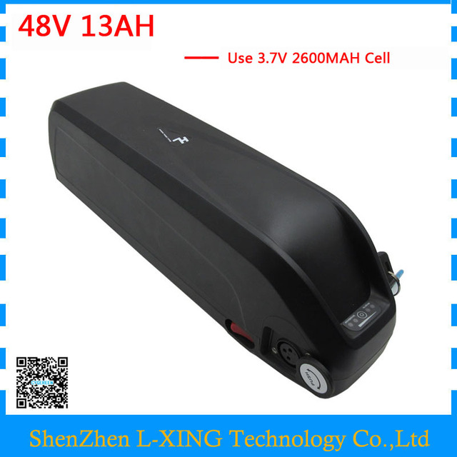 48V 13Ah Hailong battery 500W 750W 48V lithium ion ebike battery with 20A BMS USB Port 54.6V 2A Charger free customs fee