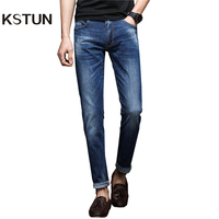 KSTUN New Arrivals Jeans Men Spring And Summer High Elasticity Blue Straight Slim Business Casual Male